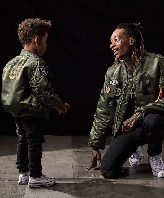 Wiz Khalifa et son fils pour la ligne BASH