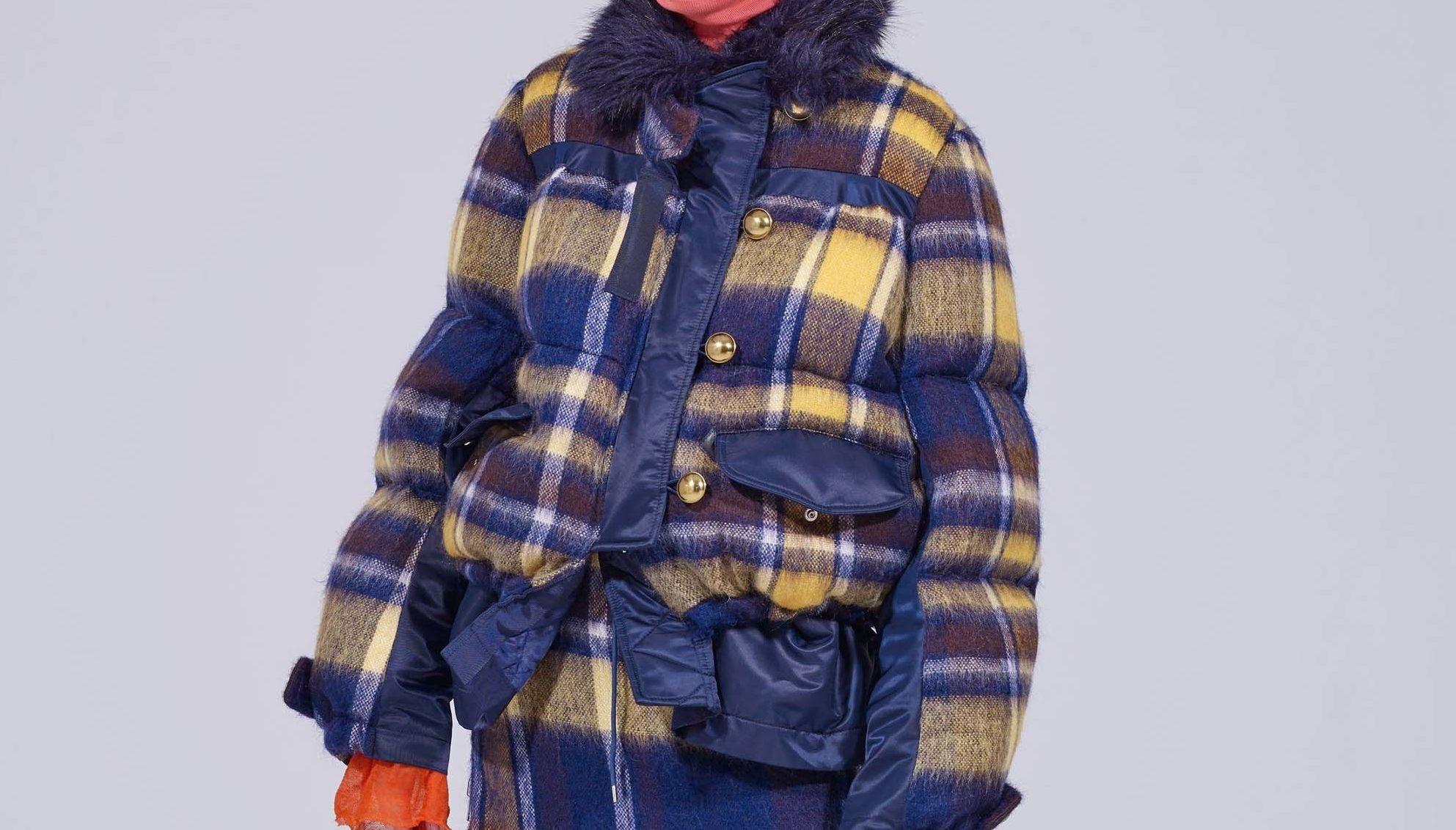 Orelsan-discipline-sacai-veste-plaid-carreaux-bleu