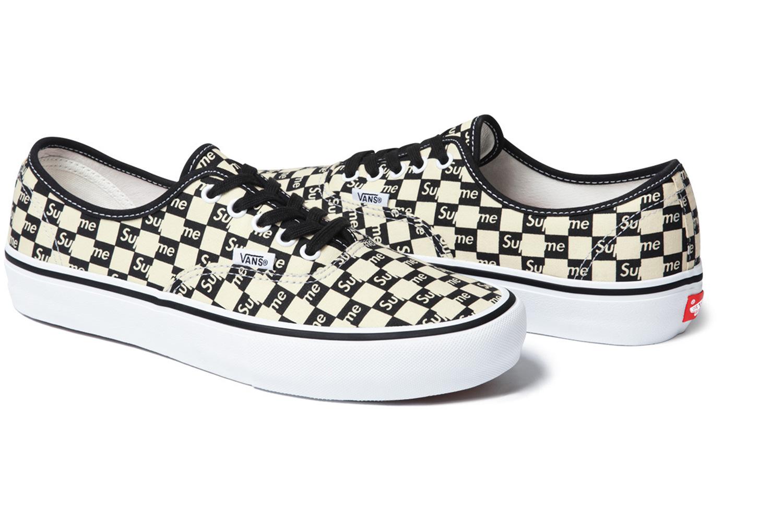 chaussures vans x supreme