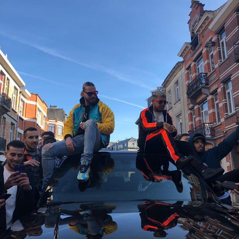 hamza-et-sch-clip-tournage-voiture-survetement-veste